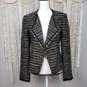 Loft Womens Boucle Tweed Open Front Blazer NWT